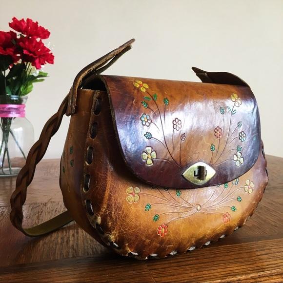 7d81fe3721 Bags   60s70s Boho Hippie Vintage Leather Purse   Poshmark